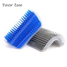 Brushes Pet Dog Cat Hair Remover Corner Comb Self Cleaning Massage Combs Brush With Catnip Pet Grooming Tool Dogs Cats Supplies pet hair deshedding dog cat brush comb sticky hair gloves hair fur cleaning for sofa bed clothe pets dogs cats cleaning tools