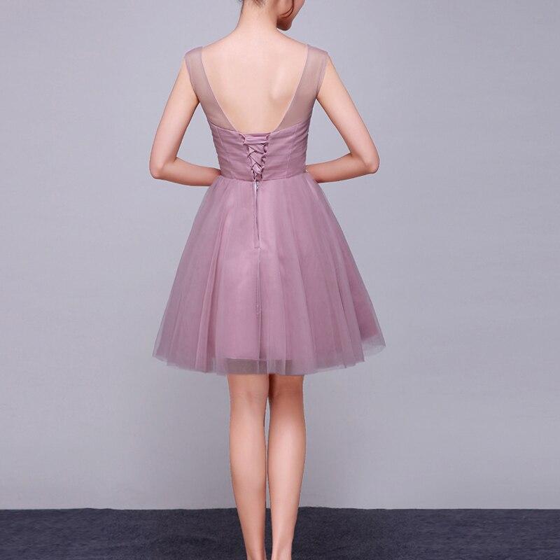 Sommer Elegante burgunder Verheiratet Kurze Backless Grau grün Kleid Grau Ankunft rosa Party Kleider 2019 Bankett Neue Braut Sexy Perlen byfg67