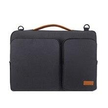 Neue handtasche laptop sleeve tasche Tragbare Business Aktentasche für Macbook 13,3 15,6 zoll Notebook fall wasserdichte Hohe kapazität tasche