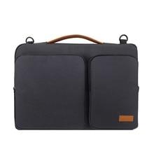 新ハンドバッグのラップトップスリーブバッグポータブルビジネスブリーフケース macbook の 13.3 15.6 インチノートブックケース防水大容量バッグ