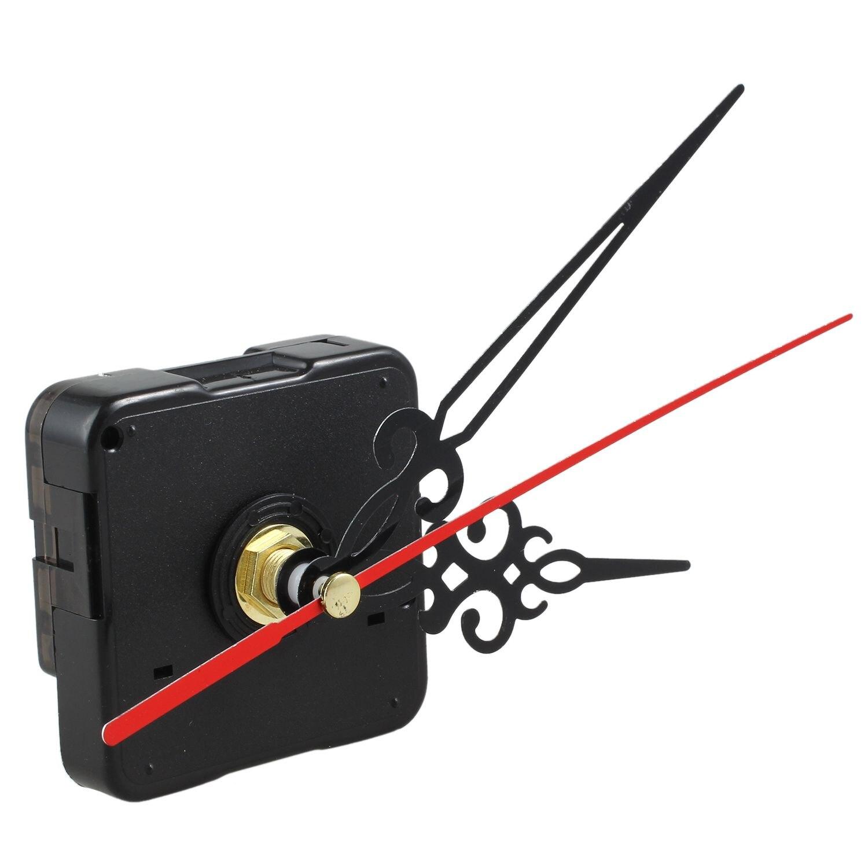 Noir Rouge À faire soi-même Horloge Mouvement à Quartz Mécanisme Mains pièce de remplacement