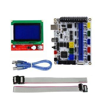 3D プリンタアクセサリー MKS 世代 L マザーボード + 12864LCD ディスプレイオープンソースのファームウェアマーリン写真の色 -
