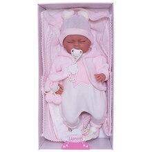 Кукла-пупс Llorens Лала в белом комбинезоне 42 см, со звуком