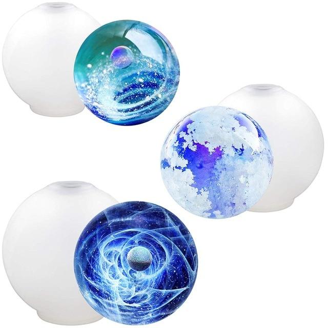 Chaim esfera Bola Molde de Resina Flexível Boca E Nenhum Vazamento de Tamanhos Variados 3-Contagem