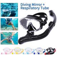 Snorkeling Goggles Scuba Diving Mask Tube Set Snorkeling Mask Goggles Glasses Swimming Easy Breath Dry Snorkel