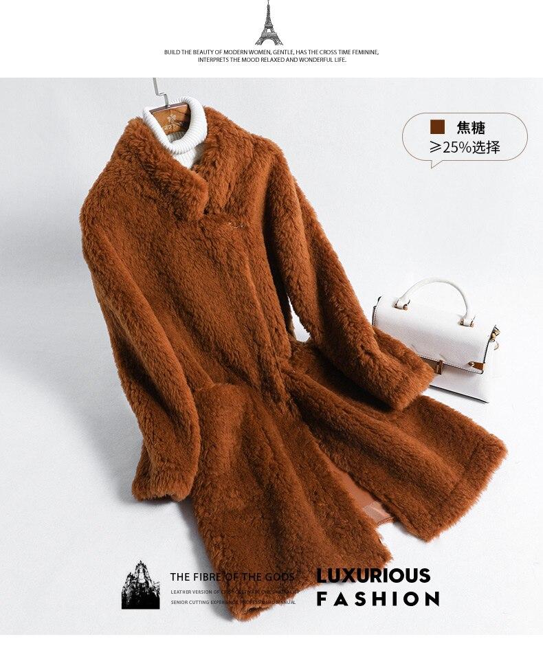19579075bd1fc Blanc brown De Femme Rose Tondus Beige Femmes D hiver Veste Laine Fourrure  Moutons Élégant Manteau wUqxAxfYS