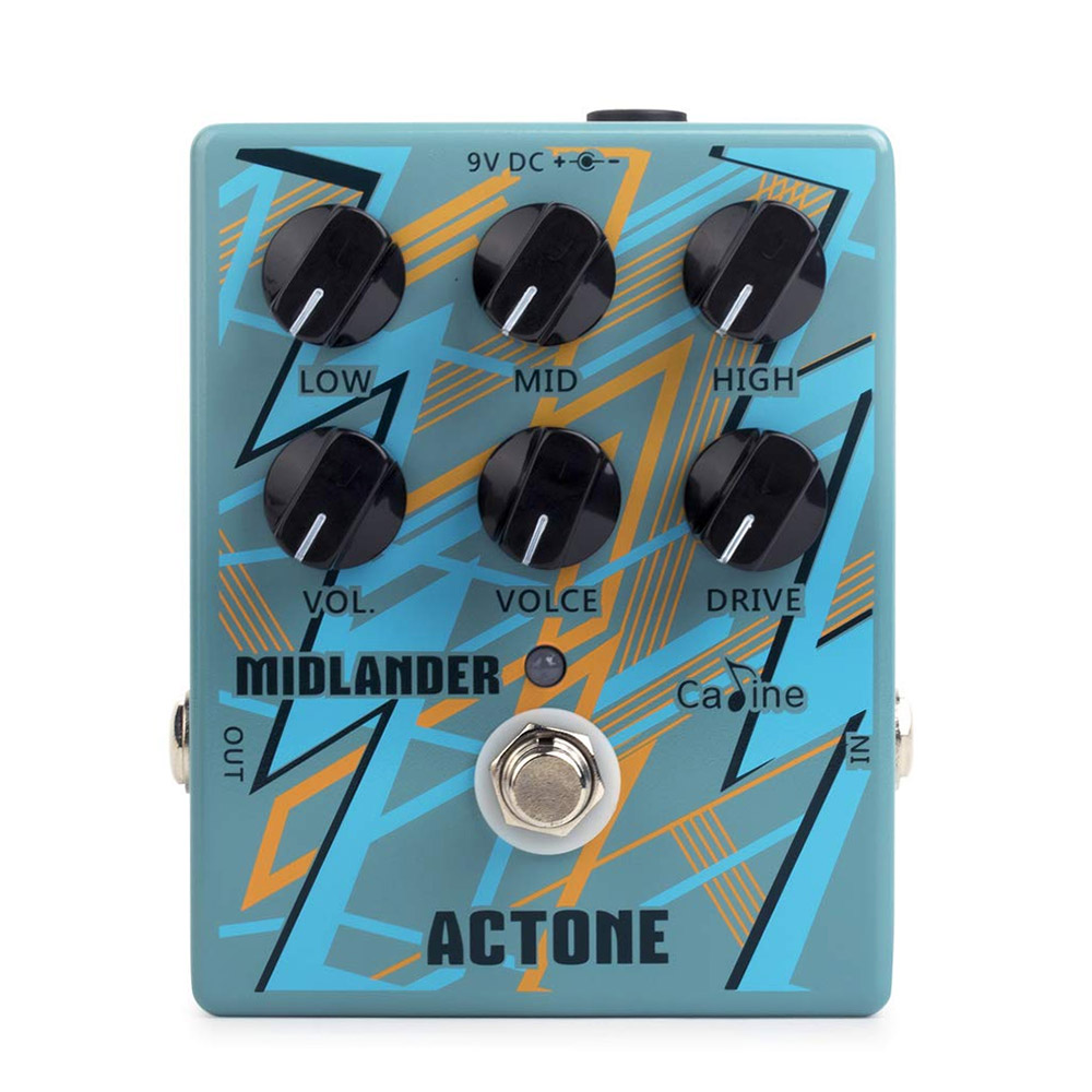 Caline CP 56 Overdrive Distortion Guitar Effect Pedal High Gain 3 Band EQ Metal Amplifier Simulation