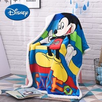 Disney Baby Quilt Baby Flannel Cover Blanket Mickey Winnie the Pooh Cartoon Kids Bedding Quilt Soft Appease Blanket