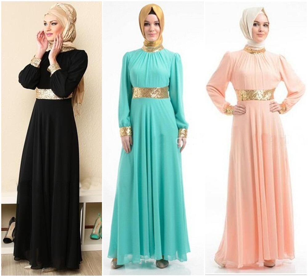 Muslim dress Arab women's Muslim long-sleeved robes ladies bottom skirt