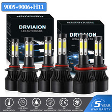 Hiyork New 4Side Lumens DOB 100W 10000lm H4 Hi lo H7 H11 9005 9006 Car LED Headlight Bulbs Auto Headlamp Light H8 H9 HB3 HB4 HB2