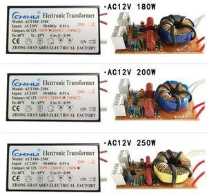 Image 2 - 3 jahre garantie Elektronische Transformator AC 220V AC12V für Halogen Lampe Kristall G4 Glühbirne 20W 40W 50W 60W 80W 105W 120W 160W