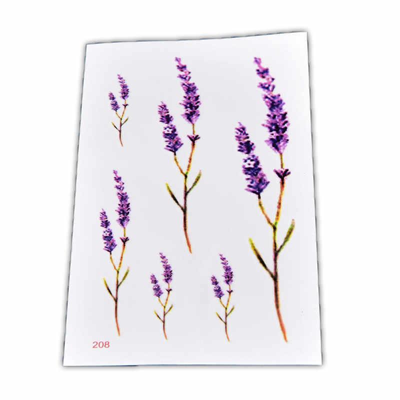 جديد 1 قطعة الخزامى صورة المؤقتة الوشم ملصقات صغيرة الطازجة للماء المؤقتة الوشم ل رجل امرأة وهمية لصاقات وشم