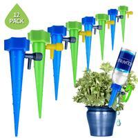10/12 pces sistema de rega automática ponto de rega para plantas flor interior casa garrafa água irrigação por gotejamento