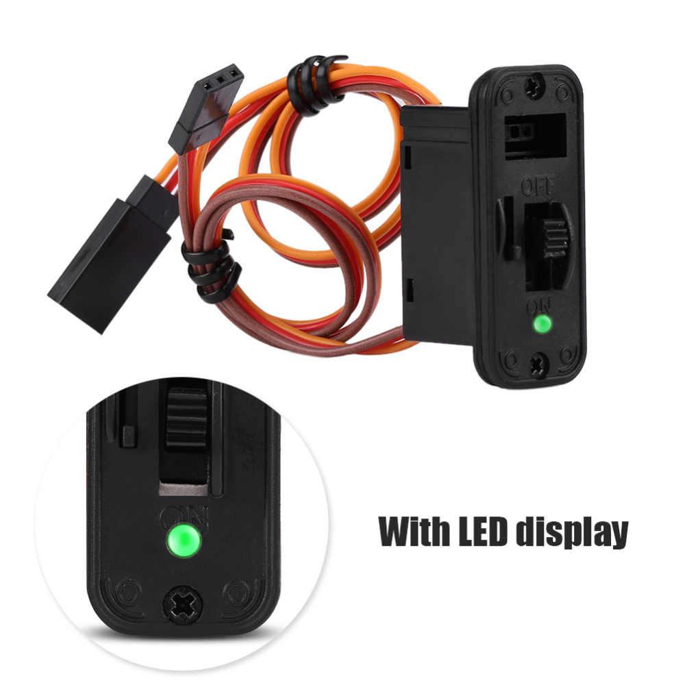 RC соединители 1 сверхмощный переключатель RC с светодиодный Дисплей JR RC на Off соединительные приспособления для приемника аксессуары для радиоуправления