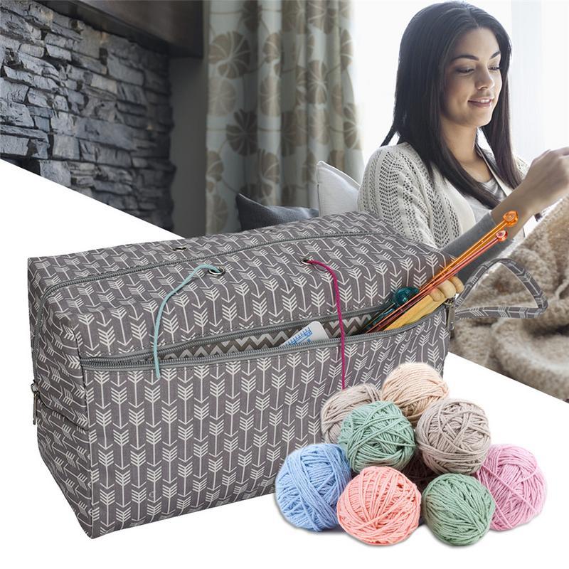 Sturdy Lightweight Multifunction Premium Yarn Storage Tote Crocheting Supplies Organizer Holder Sewing Yarn Storage Bags Case Arts, Crafts & Sewing Storage Arts,crafts & Sewing