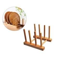 Wooden Drainer Plate Stand Wooden Dish Plate Fold Rack Holder Stand Dry Shelf Storage Decorative Shelves Kitchen Organizer