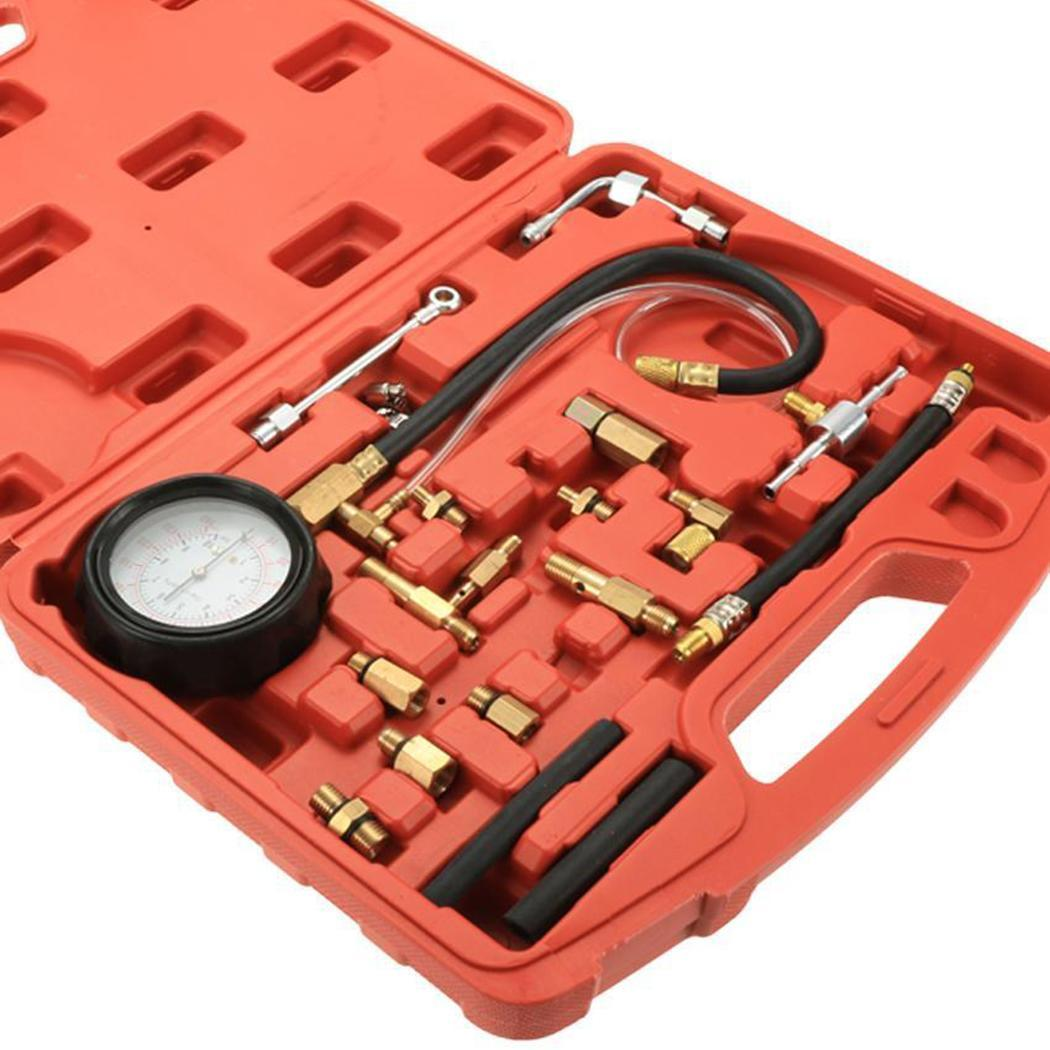 Auto Fuel Injection Pressure Gauge TU 114 1.75 kg Red Fuel Injector Car Tester Tools ambient temperature set