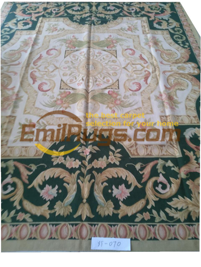 Tapis ancien en laine tissée à la main Aubusson tapis maison tapis Rectangle tapis Ushak