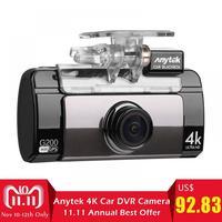 Anytek 2.7 WiFi Car DVR IPS Touch Screen 4K UHD Camera Dual Lens GPS Logger Video Recorder Night Vision G sensor Dash Cam G200