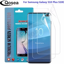 (3 PACK) For Samsung Galaxy S10 Plus S10E Smartphone Screen Protector 3X Clear LCD Guard Shield Cover Explosion-proof Film Skin 3pcs protective flim screen protector ultra thin clear lcd guard shield cover skin for samsung galaxy fit fit e bracelet tools