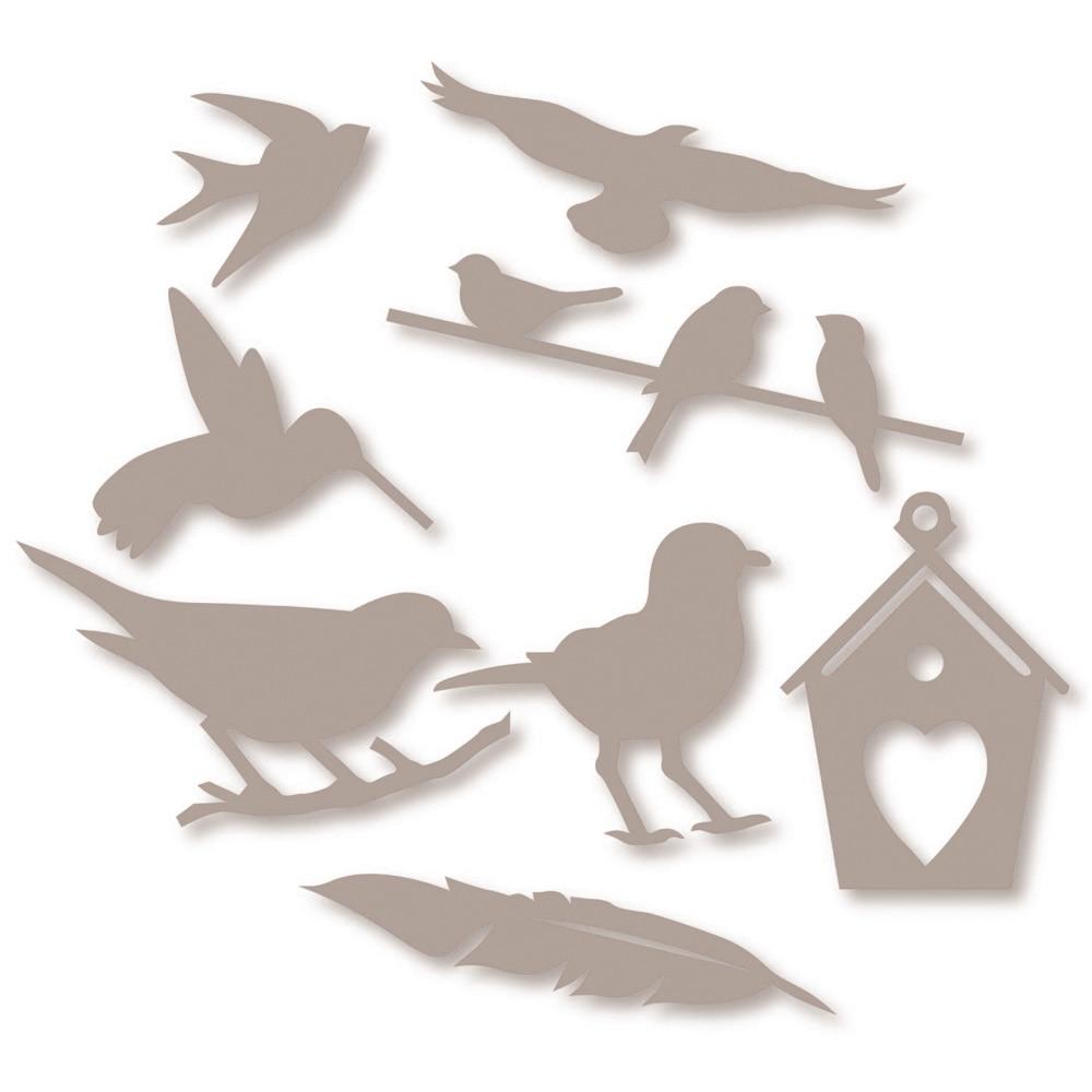 2 pieces Scrapbooking Embossing Metal Cutting Dies Craft Stamp Birds Cut Die
