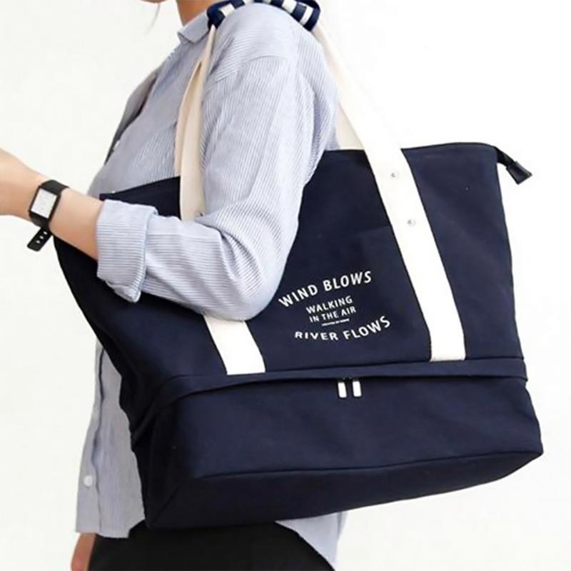 Viagem Duffle Totes Bag Para Viagens Curtas Ao Ar Livre Grandes Sacos de Bagagem Para As Mulheres Homens Organizador Saco Weekender Bolsa de Embalagem Terno