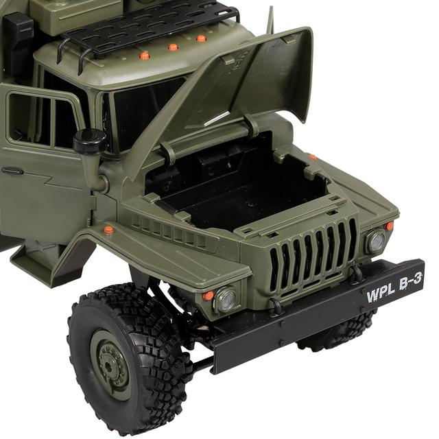 WPL B-36 1:16 RC Car Military Command Vehicle 2.4G 6WD Army Car Children Gift Kids Toy for Boys RTR 4