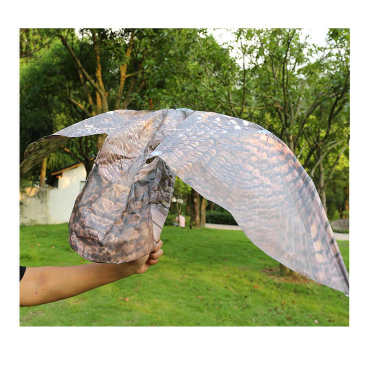 ינשוף דקור מזויף מטלטלין כנפי הרתעה חרקים מטע בובות בית גן קישוט דקור צעצוע עם כנפיים