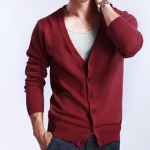 Men Knitted Cardigan 2018 New Fashion Cashmere Wool Casual Slim Sweaters V-neck Comfortable Thin Knit Jackets Plus Size Male