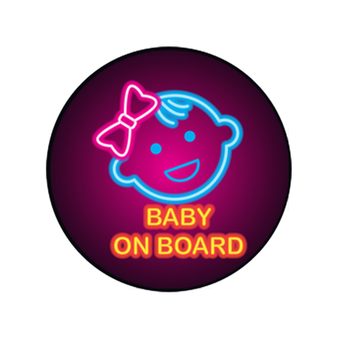 Warning Sign Car Stickers PVC Baby on Board Bomb for Cars Styling Waterproof Window Decoration Automotive Products image