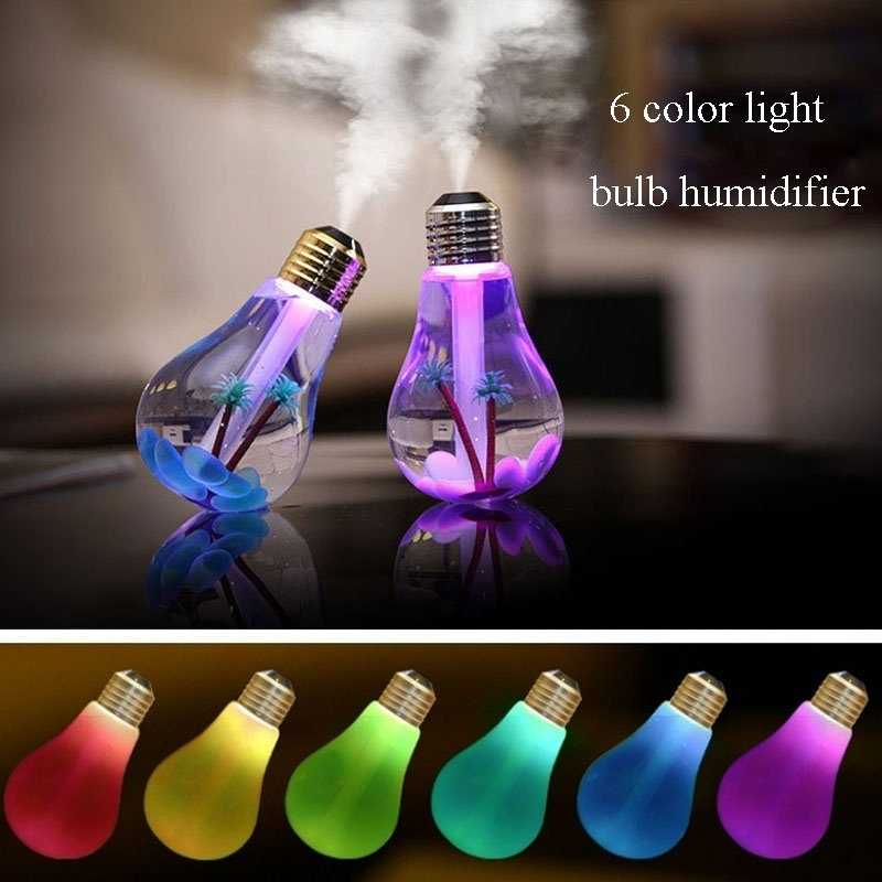 Colorful Landscape Led Night Light Bulb Usb Mini Atomizer Micro Spray Hydrating Household Humidifier Desktop