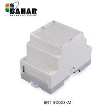 BAHAR 1 шт. промышленный din-рейку пластиковый корпус abs электронный проект Чехлы diy din-рейку распределительная коробка для проводов BRT80002