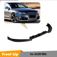 Front Bumper Protector For 2012 2015 Audi RS5 Coupe 2 Door Carbon Fiber Bumper Lip Spoiler Cover JC Style