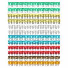 7 видов цветов 120 шт./компл. Ассорти Смешанный Стандартный Авто лезвие предохранителя 5 A 7,5 A 10 A 15 а 20 А 25 А 30 A