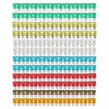 Lote de 120 unidades de 7 colores variados de fusible estándar para coche, de 5 A 7,5 A 10 A 15 A 20 A 25 A 30 A