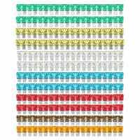 7 farben 120 teile/satz Sortierte Gemischte Standard Auto Auto Blade Fuse 5 EINE 7,5 EINE 10 EINE 15 EINE 20 EINE 25 EINE 30 EIN