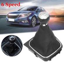 5/6 Speed Car Manual Gear Shift Knob Gaiter Boot Cover For VW GOLF MK5 2003-2009 PLUS MK5 2005-2009 MK6 2008-2012(China)