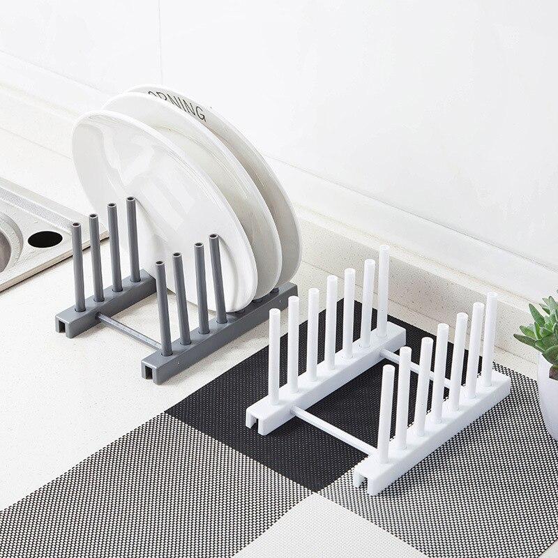 Kitchen Dish Drying Rack Holder Plastic