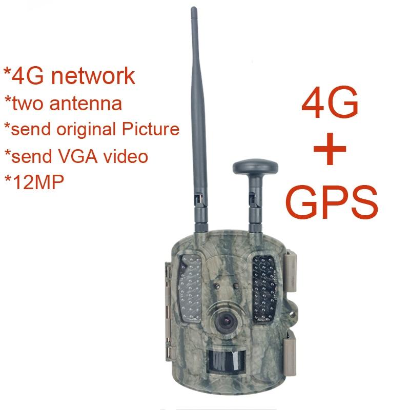 BL480L-P 4G Traînée de Chasse Caméras avec GPS 4G LTE Faune Caméras 12MP GPS Forêt Faune Caméras 4G réseau Hunter Caméras