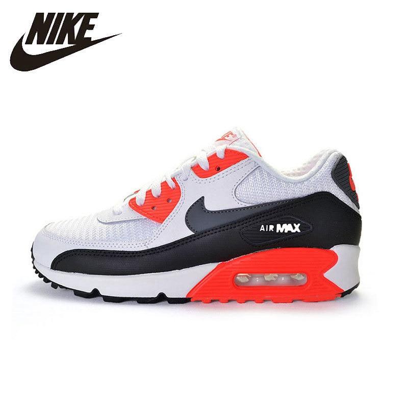 Nike Air Max 90 esencial hombres zapatillas de correr transpirable masaje con colchón de aire zapatillas de deporte al aire libre #537384