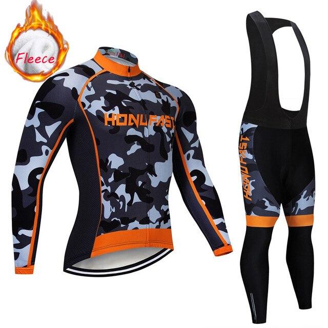 Invierno Ciclismo conjunto De lana térmica ropa De Ciclismo equipo Pro bicicleta cuesta abajo Jersey Skinsuit MTB ropa De Ciclismo 2019