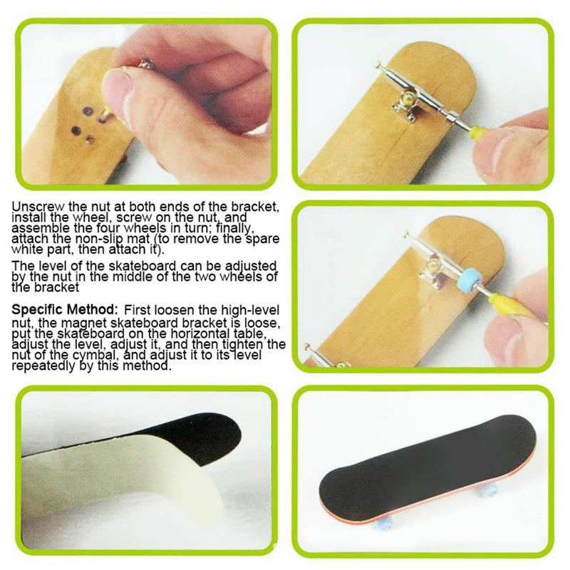 Image 4 - Children's entertainment Finger skateboard Earthquake resistance Non slip Wooden skateboard   durable Skateboard set-in Skate Board from Sports & Entertainment