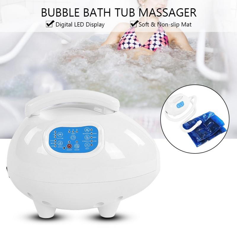 Body Massager Air Bubble Bath Tub Ozone Sterilization Body Spa Massage Mat with Air Hose Massage Moisturizing Device