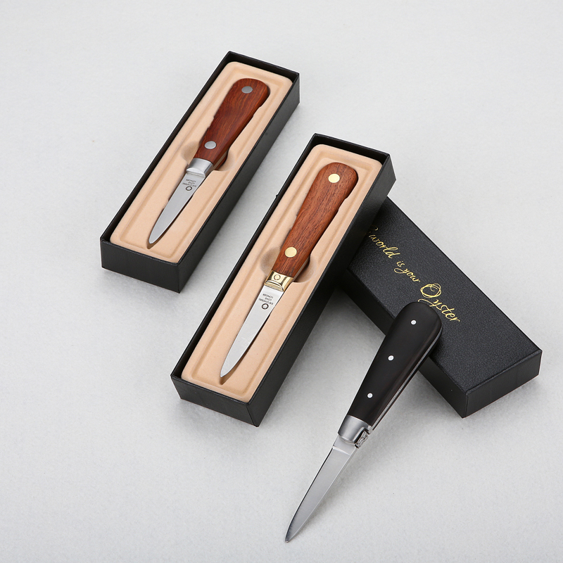 6pcs Stainless steel oyster knife oyster knife oyster knife stainless steel oyster tool luxury gift box with Rosewood Handle in Seafood Tools from Home Garden