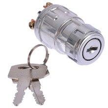 Универсальный автомобильный лодочный мотоцикл зажигание стартер ключ переключатель баррель 4 положения с 2 ключами автомобильный переключатель Замена