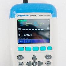 AT826 الرقمية 100khz يده الدقة USB عالية التردد المحمولة جسر كهربائي مقياس قدرة دائرة التوالي