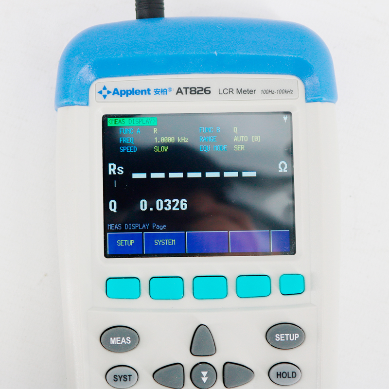 AT826 Digital 100khz Handheld Precision USB High Frequency Portable Electric Bridge LCR Meter