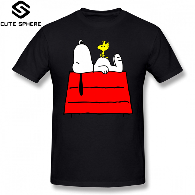 Peanuts T Shirt Chill Out T-Shirt Classic Oversize Tee Shirt 100 Cotton Graphic Short Sleeves Mens Awesome Tshirt