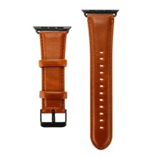 Shellhard 1pc Genuine Leather Watch Band For Apple 38/40/42/44mm Strap iWatch Series 4/3/2/1 Wristband