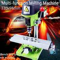 Mini Multifunction Table Milling Machine Drill Vise Fixture Adjustment Worktable for Mini Drill and Drill Bracket